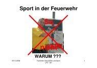 Sport in der Feuerwehr - WARUM