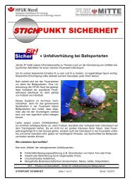 Sicher fit!: Unfallverhütung bei Ballsportarten