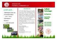 Flyer mit Anmeldung - Hessischer Fußball Verband