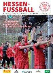 Hessen Fussball 01-02/2013 - Hessischer Fußball Verband