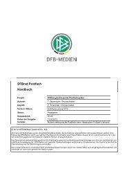 DFBnet Postfach Handbuch - Hessischer Fußball Verband