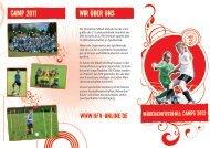Camp 2011 Wir über uns - Hessischer Fußball Verband