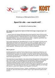 Einladung Bildungskonferenz 2013 - Hessischer Fußball Verband