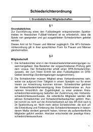 Schiedsrichterordnung - Hessischer Fußball Verband