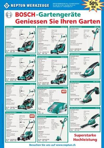 Bosch Flyer Gartengeräte 2013.indd - NEPTUN WERKZEUGE AG