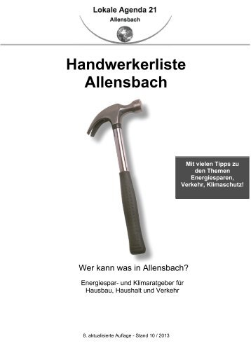 Download Handwerkerliste - Allensbach