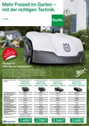 Mehr Freizeit im Garten – mit der richtigen Technik. - BayWa AG