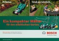 Ein kompakter Mäher - Bosch