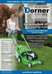 Gartentechnik 2013 - Friedrich Dorner GmbH
