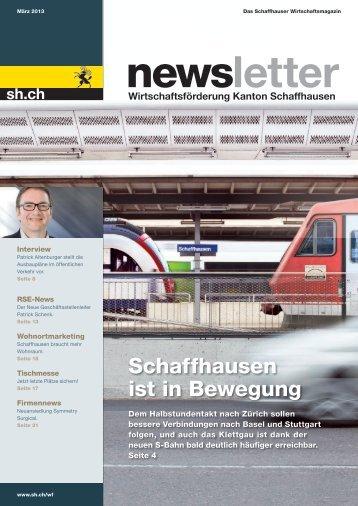 Schaffhausen ist in Bewegung - Wirtschaftsförderung Kanton ...
