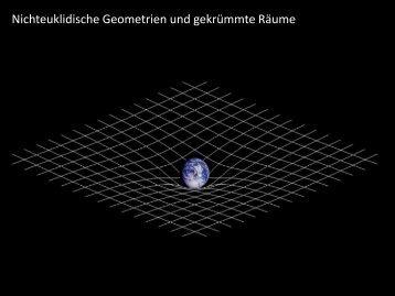 Nichteuklidische Geometrien und gekrümmte Räume