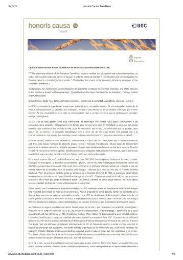10/12/13 Honoris Causa: Tony Bates www.uoc.edu/hc/bates/cat ...