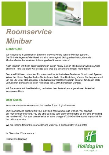 Roomservice Minibar
