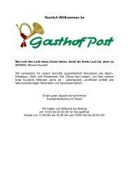 unsere sommer speisekarte - Gasthof Post