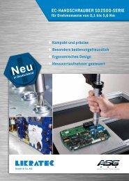 EC-HANDSCHRAUBER SD2500-SERIE - Likratec GmbH & Co. KG