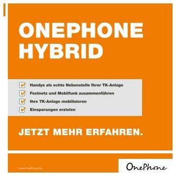 OnePhone Hybrid Kampagne - it concepts GmbH Hückelhoven