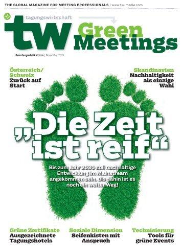 Green Meetings - TW TagungsWirtschaft