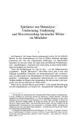 Spielarten von Metanalyse : Umformung, Umdeutung und ...
