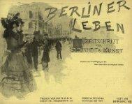 Berliner Leben: Zeitschrift für Schönheit und Kunst