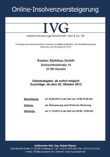 Kasten Stahlbau GmbH - ivg-kuepers.de