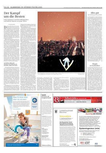 Karriere in Süddeutschland - Süddeutsche Zeitung