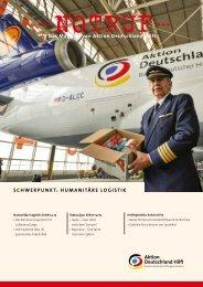 Thema: Humanitäre Logistik - Aktion Deutschland Hilft