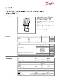 Elektrische Stellantriebe für 3-Punkt-Schritt-Signal AMV ... - Danfoss