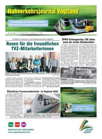 38. Ausgabe, 13. März 2013 (0,5 MB) - Vogtlandauskunft
