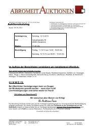 Katalog für Auktion Stand 09.10.2013 - Abromeit Auktionen