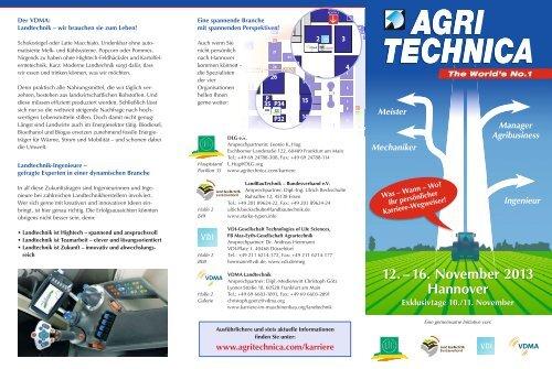12. – 16. November 2013 Hannover - Agritechnica