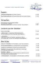 Suppen Vorspeisen Leckeres aus der Salatbar Dies & Das - Hotel ...