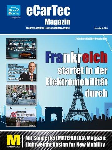 Druckversion eCarTec Magazin, Ausgabe 01-2013