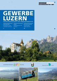 KMU-Sprechstunde - Gewerbeverband des Kantons Luzern