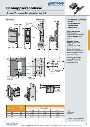 Schnappverschlüsse - Heyman Manufacturing GmbH