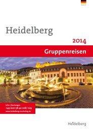 Hotline +49 6221 58 40 228/-229 - Heidelberg Marketing GmbH
