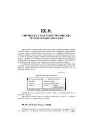 IX.9. CONTROLUL CALITĂŢII ÎN TEHNOLOGIA DE ... - UTM