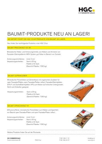 bAumit-produkte neu An LAGer! - HG Commerciale