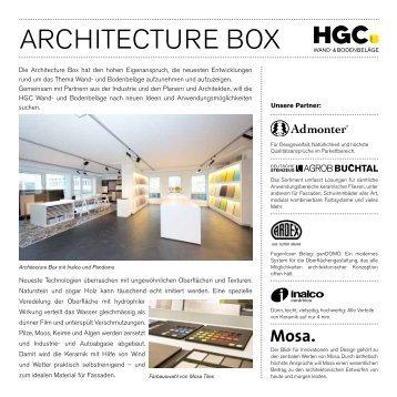 Flyer Architecture-Box_2013 - HG Commerciale