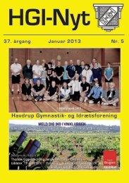 37.årgang - januar 2013 - nr. 5 - HGI Nyt