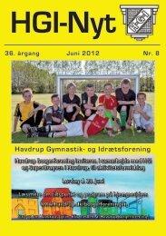 36.årgang - juni 2012 - nr. 8 - HGI Nyt
