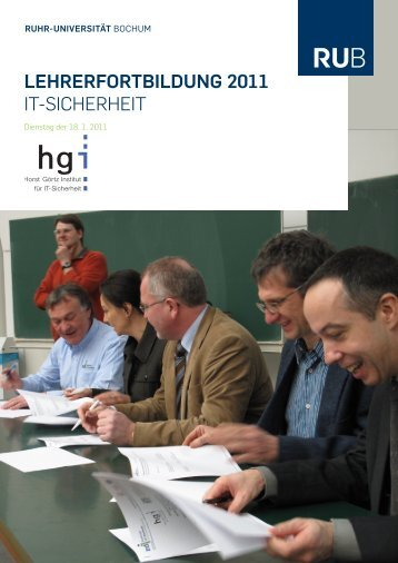 lehrerfortbildung 2011 - Horst Görtz Institute for IT-Security