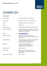 ITS.CONNECT 2011 - Horst Görtz Institute for IT-Security - Ruhr ...