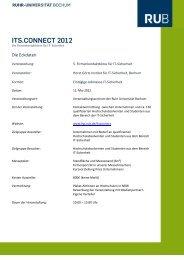 ITS.CONNECT 2012 - Horst Görtz Institute for IT-Security - Ruhr ...