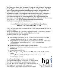 Quelle - Horst Görtz Institute for IT-Security - Ruhr-Universität Bochum