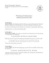 Aufgabenblatt Kryptologie - Ruhr-Universität Bochum