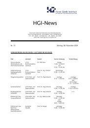 HGI-News - Horst Görtz Institute for IT-Security - Ruhr-Universität ...