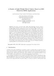 A Family of Light-Weight Block Ciphers Based on DES Suited for ...