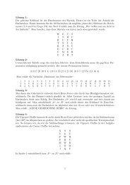 Lösung 1: Der geheime Schlüssel ist der Durchmesser der Skytala ...