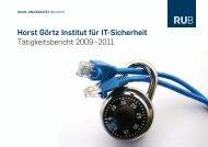 HGI-Bericht - Horst Görtz Institute for IT-Security - Ruhr-Universität ...