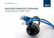 Tätigkeitsbericht HGI - Horst Görtz Institute for IT-Security - Ruhr ...